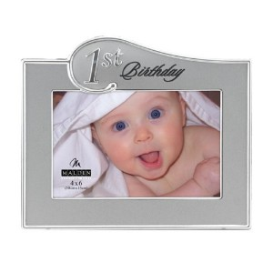 Malden 1st Birthday Two Tone, 4 x 6 inch Picture Frame, Sliver by Malden [並行輸入品]
