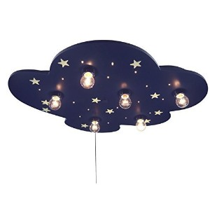 Niermann Standby LED Cloud XXL Ceiling Lamp, Blue Glowing Stars by Niermann Standby [並行輸入品]