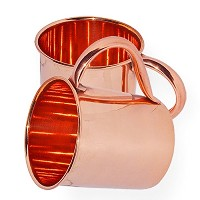 AsiaCraft 100 % Pure Copper Mugs for Moscow Mule Set of 2 ? 16 Oz No Inner Lining ? Lacquered...