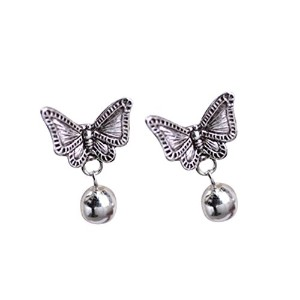 aiede-newスターリングシルバーバタフライボールスタッドearrings-10mm