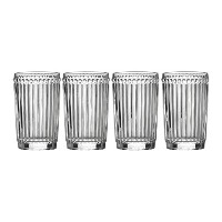 Mikasa Italian Countryside Highball Glass (Set of 4), 12 oz, Clear by Mikasa