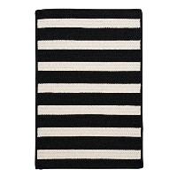 Stripe It Rug, 3 by 5-Feet, Black White [並行輸入品]