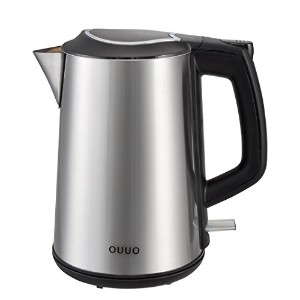 OUUO Cordless Stainless Steel Double Wall Electric Water Kettle 1.9 quart by OUUO