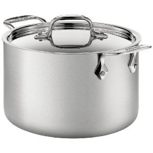 All-Clad BD552043 D5 Brushed 18/10 Stainless Steel 5-Ply Bonded Dishwasher Safe Soup Pot with Lid...