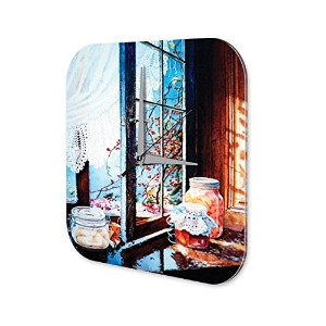 Nostalgic wall clock Window sill curtain Vintage Decoration Plexiglass