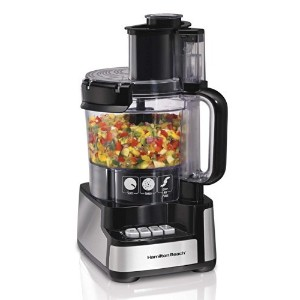 Hamilton Beach 70725 12-Cup Stack and Snap Food Processor Powerful 450 Watt [並行輸入品]