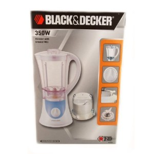 Black & Decker 350W Blender with Grinder Mill BX360 (220 Volt Will Not Work In The USA) [並行輸入品]