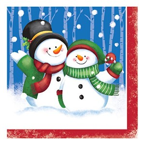 Creative Converting 31712816Count Paper Lunch Napkins、雪の日