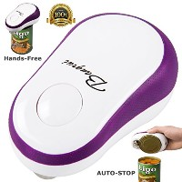 BangRui Automatic Can Opener Electric Smooth Touch Restaurant Easiest Soft Edge Electric Can Opener...