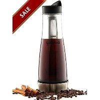 Qahwa Cold Brew Coffee andアイスコーヒーメーカー、1.2 L ( 42オンス)プレミアムガラスピッチャー/ Carafe with Removableフィルタand...