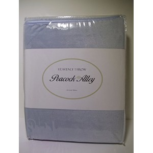 Peacock Alley Heavenly Throw Blanket ( Glacier )ライトブルー