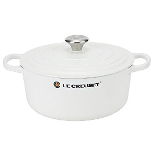 Le Creuset ルクルーゼ SIGNATURE シグニチャー Cocotte ronde 26cm ココットロンド Cotton コットン 両手鍋 [並行輸入品]