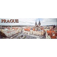 Prague, Czech Republic - Old Town Square panoramic fridge magnet 125x45mm プラハ-チェコ-パノラマ-冷蔵庫のマグネット