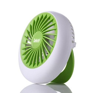 TIanNorth Fashion USB Rechargeable Mini Fan With Portable Fan Green by TianNorth