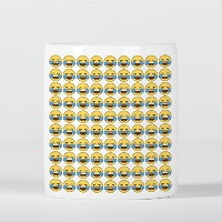 Face with Tears of Joy Emoji Smile Pattern 貯金箱