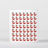 Dancer Emoji Red Dress Pattern 貯金箱