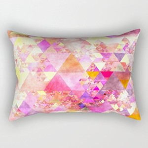 Geometry Throw Pillow Covers 18 X 26 Inches / 45 By 65 Cm Best Choice For Drawing Room,couples...