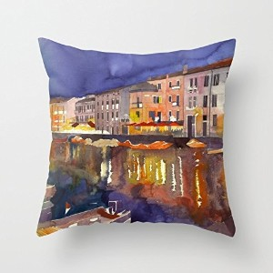 Watercolor Cushion Covers 16 X 16 Inches / 40 By 40 Cm Best Choice For Husband,birthday,dance Room...