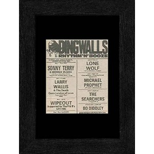Sonny Terry Bo Diddley Larry Wallis - Dingwalls London 27th May-3rd June 1982 Gigs Framed Mini...