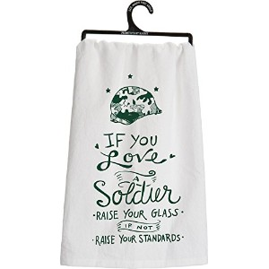 If You Love a Soldier Decorativeティータオル