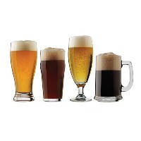 Libbey 4Piece Craft Brews Assortedビールメガネセット、クリアby Libbey
