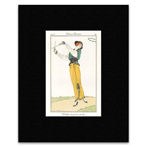 Costumes Parisiens - Outfit For a Garden Party By Victor Lhuer Mini Poster - 40.5x30.5cm