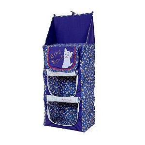 Baby Almirah Hanging Three Cabinet For Kids (Blue)