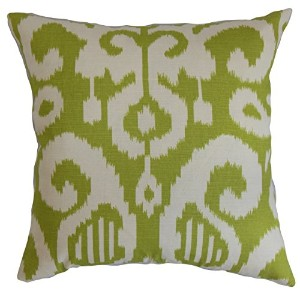 The Pillow Collection QUEEN-D-72063-LIME Lime Teora Ikat Bedding Sham, Queen/20' x 30' [並行輸入品]