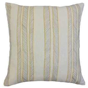 The Pillow Collection Sunny Drum Stripes Bedding Sham, King/20' x 36' [並行輸入品]