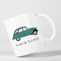 Customized Vintage Car Beetle Children Kids Personalised マグカップ