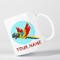 Customized Pirate Parrot Children Kids Personalised マグカップ