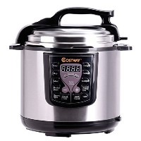Costway Electric Pressure Cooker Stainless Steel Kitchen, 6 quart, 1000W by Costway