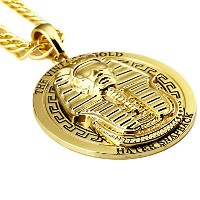 MCSAYS ヒップホップ ファッション hiphop ネックレス エジプトファラオ ネックレス Mens 18 K Gold Plated Vintage Egypt Charm Necklace...