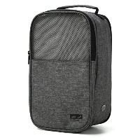 TOURIT Shoe Bag with Zipper Closure for Traveling Gym Business, grey