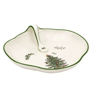 Spode Christmas Tree Peppermint Single Handled Tray by Spode