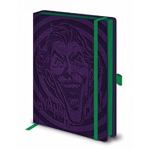 "■DCコミックス - ジョーカー プレミアム 「革風カバー」 A5 ノートブック■DC Comics - The Joker Premium ""leather look"" A5 Notebook ..."