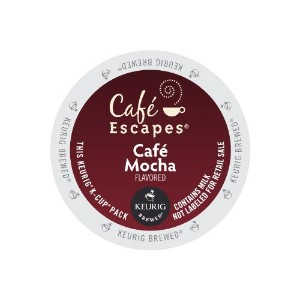 Cafe Escapes Cafe Mocha KCups 96ct by Cafテδゥ Escapes