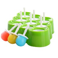 Zhhlaixing 高品質の 9 x Mini Silicone Ice Cream Moulds Popsicle Molds Kitchen Tool Set