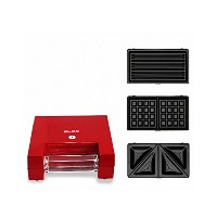 Bles WM750 Waffle Make, Sandwich Maker, Grill Plate ワッフルメーカー 220V Red (海外直送品)