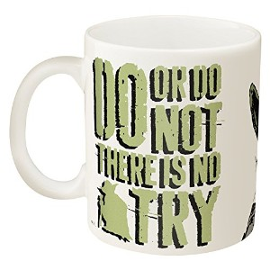 Zak! Designs Ceramic Mug with Star Wars and Yoda Graphics, 11.5 oz.