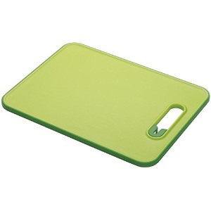 Joseph Joseph Chopping Board with Integrated Knife Sharpener, Small, Slice and Sharpen, Green