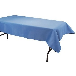 Phoenix Tablecloth, Wedgewood Blue, 52 by 70-Inch