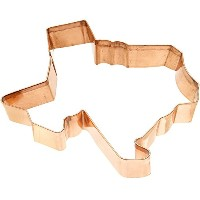 Old River Road Texas Shape Cookie Cutter, Copper
