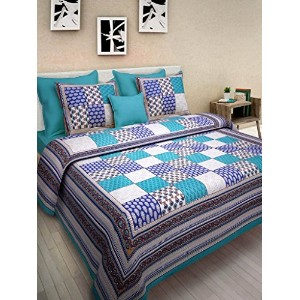 cotton king size double bedsheet With 2 Pillow Cove