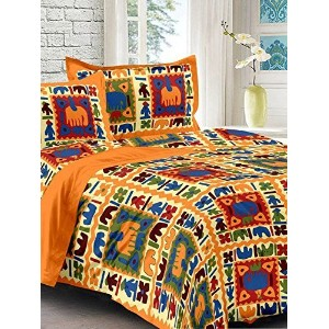 Bedsheets ( 100% Cotton Double Bedsheet With 2 Pillow Cover)