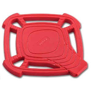 Zyliss Silicone Trivet Hot Pad with Built in Spoon Rest, Small, Red
