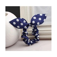 Fabric Dot Rubber Band Hair Rope Head Flower For KIds