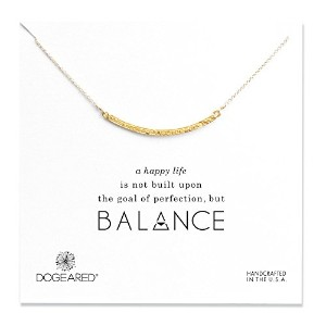 (ドギャード) DOGEARED Balance Large Textured Bar Necklace