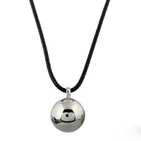 Silver Plated Stainless Steel Ball Pendant Necklace for Women