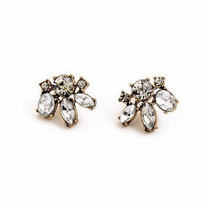 Vintage Clear Crystal Stud Earring for Women